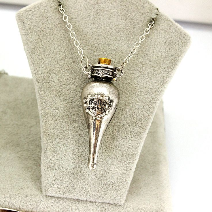 European and American movie harry potter felixfelicis bronze ancient silver reagent bottles necklace sell like hot cakes