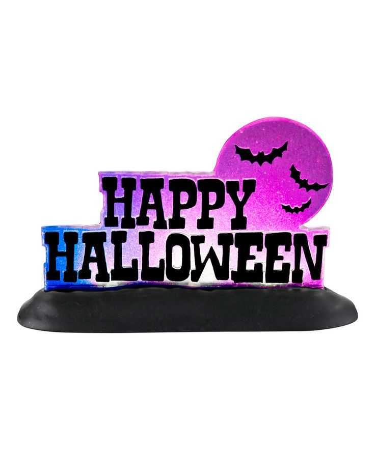 Love this Department 56 'Happy Halloween' Lit Sign by Department 56 on #zulily! #zulilyfinds