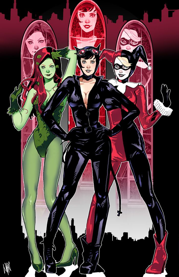 Mason City Harley >> Poison Ivy, Catwoman & Harley Quinn | Comics and Super Peeps | Pinterest | The o'jays, Catwoman ...