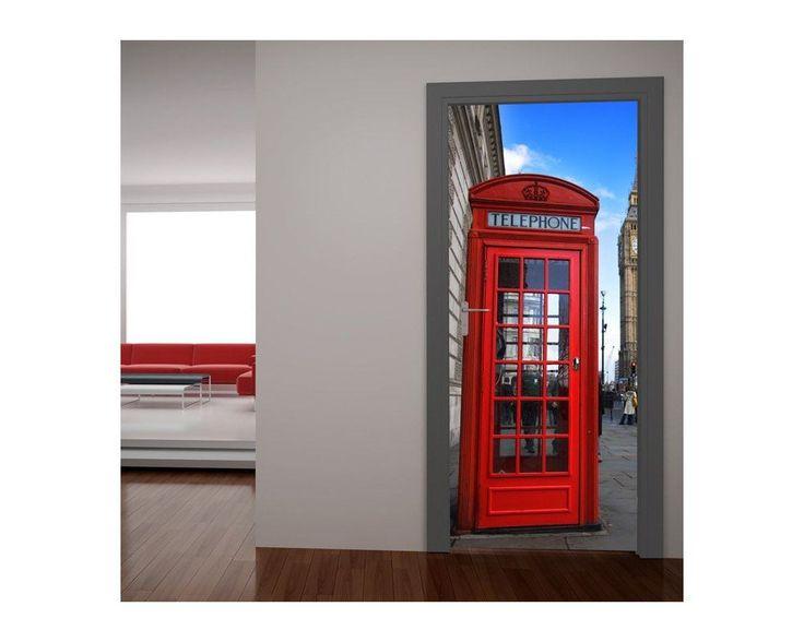 Αγγλικός τηλεφωνικός θάλαμος, αυτοκόλλητο πόρτας , δείτε το!