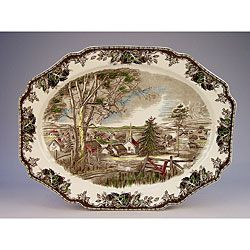 @Overstock - The traditional image on this turkey platter recreates a 'friendly village' at home that warms your table or hutch with country charm all year round. This turkey platter highlights a 19.5-inch length.http://www.overstock.com/Home-Garden/Johnson-Brothers-Friendly-Village-Turkey-Platter/5315867/product.html?CID=214117 $69.99