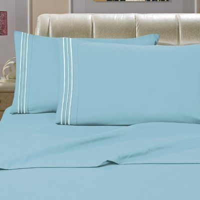 Charlton Home Beasley 1800 Thread Count Sheet Set Size: California King, Color: Elite Orange