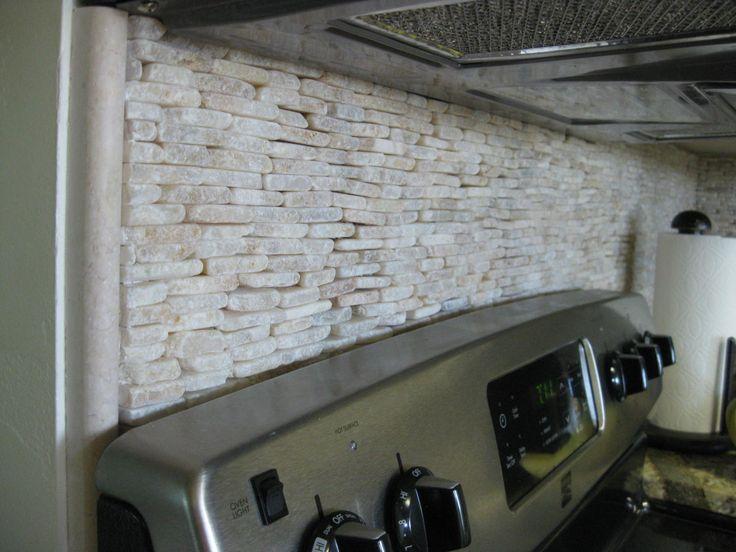 White Stone Backsplash Kitchen 35 best kitchen heaven images on pinterest | backsplash ideas