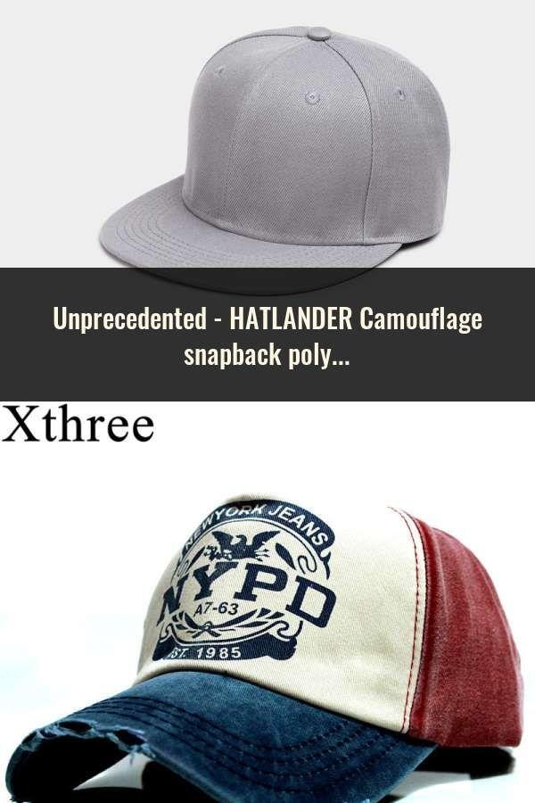 56435a75f HATLANDER Camouflage snapback polyester cap blank flat camo baseball ...