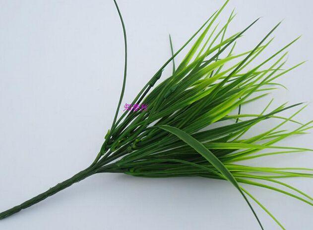 Искусственная трава зеленые растения моделирование искусственная трава растения моделирование трава поддельные трава для украшения дома 10 шт. MA1504