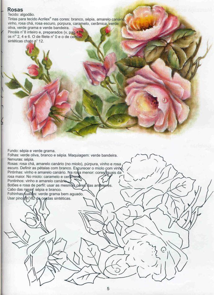 Diseño y patron para pintar en tela