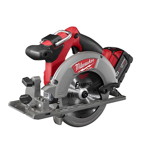 Side photo of Milwaukee's circular saw from their M18 series.