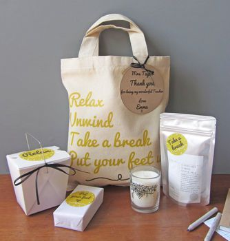 Personalised Pamper Thank You Bag