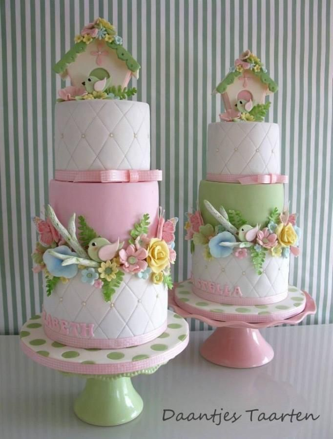 Twin christening cakes - Cake by Daantje