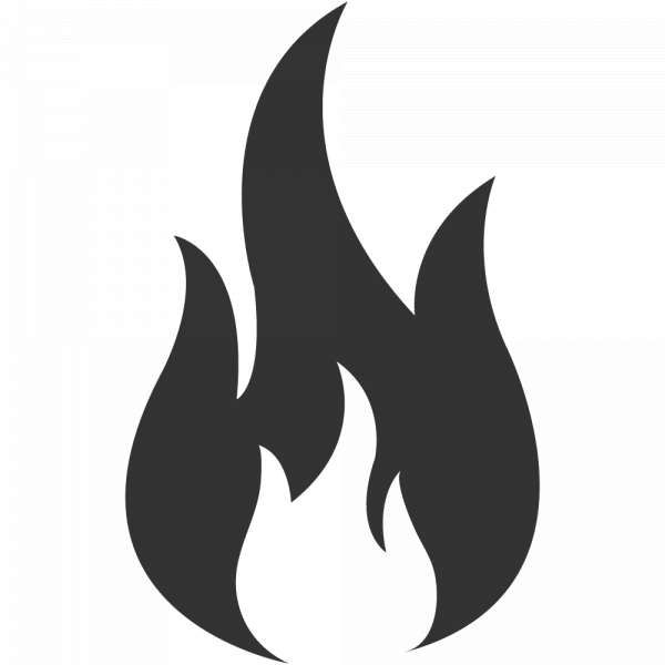 10 Flame Icon Png White Fire Icons Icon Minimalist Icons