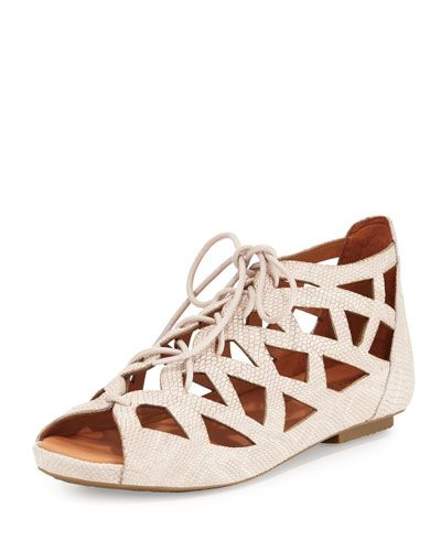 Gentle+Souls+Brielle+Lace+Up+Cutout+Flat+Sandals+Nude+|+Shoes+and+Footwear