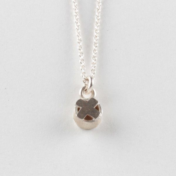 X On Top Pendant - Silver | DARKBLACK $172 NZD