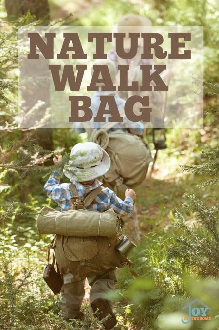 Learn how to escape on wild days with a prepared nature walk bag for your family to enjoy a nature study.