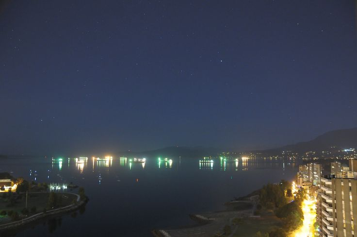 A starry but, unfortunately, aurora free night over English Bay Vancouver. September 14 2014 - 3:40 AM.