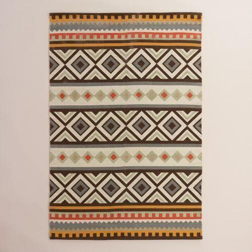 One of my favorite discoveries at WorldMarket.com: Boho Kilim Reversible Kanpur Area Rug