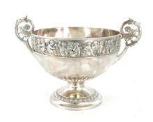 Victorian sterling punch bowl, Elkington