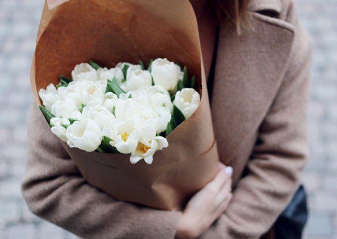 White roses..
