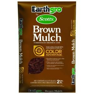 2012  Scotts 2 cu. ft. Earthgro Brown Mulch  3 bags for back garden leaves half bag extra