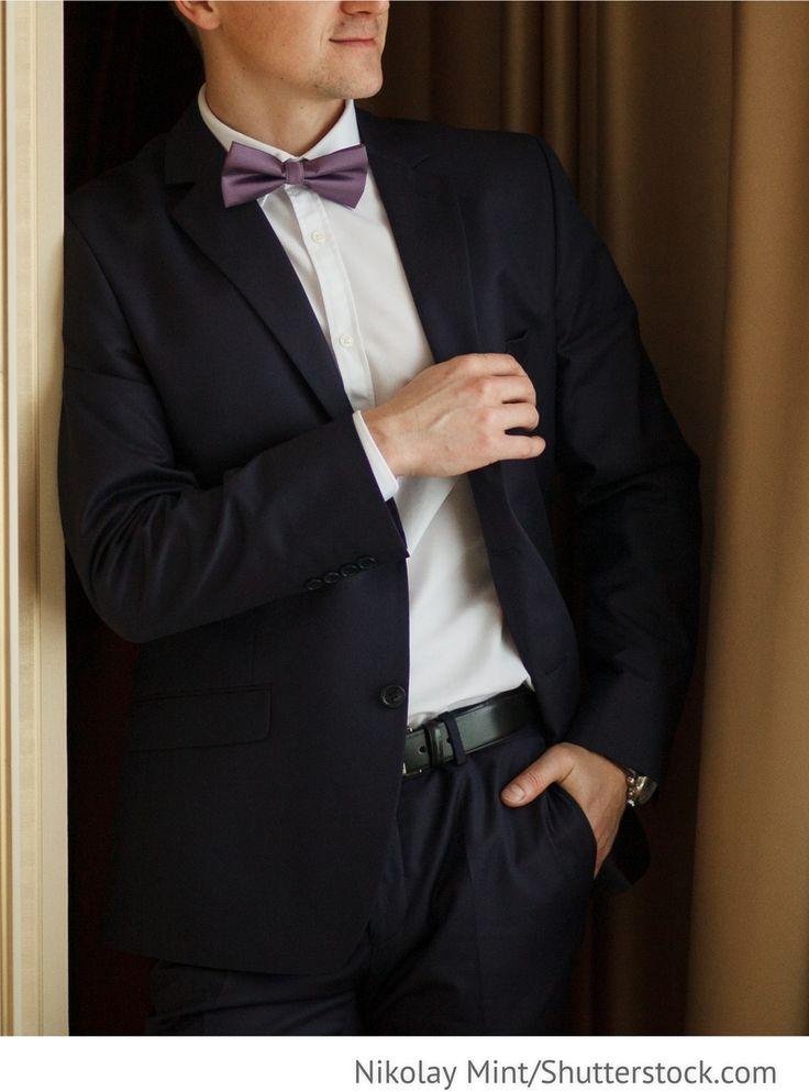 Bräutigam Anzug, Herrenmode mit Fliege für russische Hochzeiten