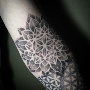 Mandala patternwork by Saskia Viney