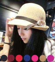 Elegante faux kaninchenfell design Fedoras hats damen filzhut, frühling sommer vogue designer floppy bowler hut, chapeau