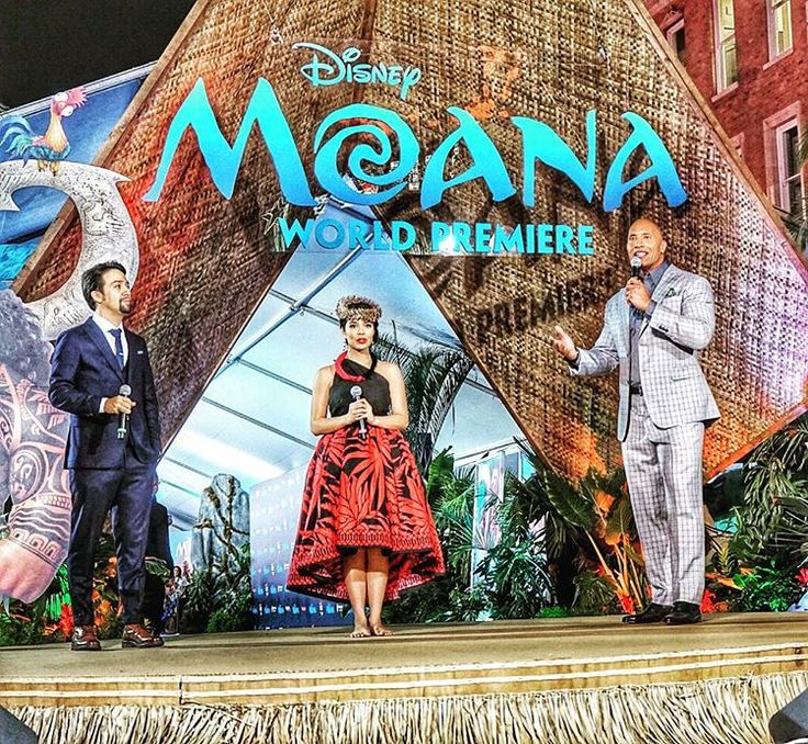 Truly a magical Hollywood night. Our world premiere of Disney's #Moana was not only one of the biggest ever, but the our Polynesian mana (spirit) was in the air. Here, Lin Manual Miranda and myself introduce our @auliicravalho as she prepares to dance a BEAUTIFUL Hawaiian hula of gratitude, tradition and pride to officially kick off our event. Again, truly a magical night. #WorldPremiere #Moana #HawaiianHula #OhanaMana