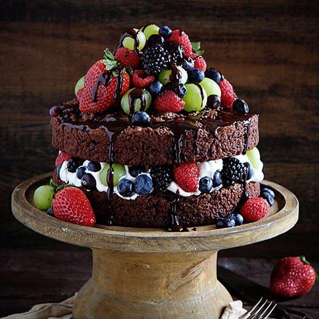 """""""çikolatlı meyveli pasta! via @blogher #yemek101 #yemek101 #pasta #blogher #cake"""""""