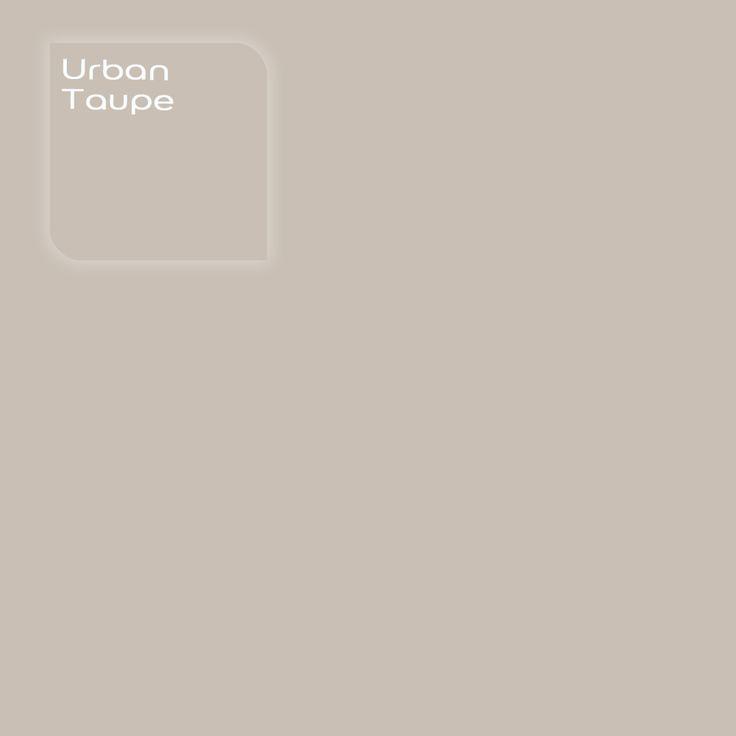 Flexa Creations kleur: Urban Taupe. Klik op de foto om een Flexa Kleurstaal in deze kleur te bestellen. Vooraf de kleur op de muur in je kamer zien geeft vertrouwen.