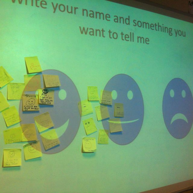 Love using this method to get the students to contribute to a plenary session. Quite useful to pick a few and run through solutions or Ask other students how they could solve the issues raised. These work at their best when they link back to the Learning Objectives. Allows you during the next starter be able to speak to students about any concepts they didn't grasp in small groups of students who flagged up similar issues. I use this quite often when getting students to develop computer...
