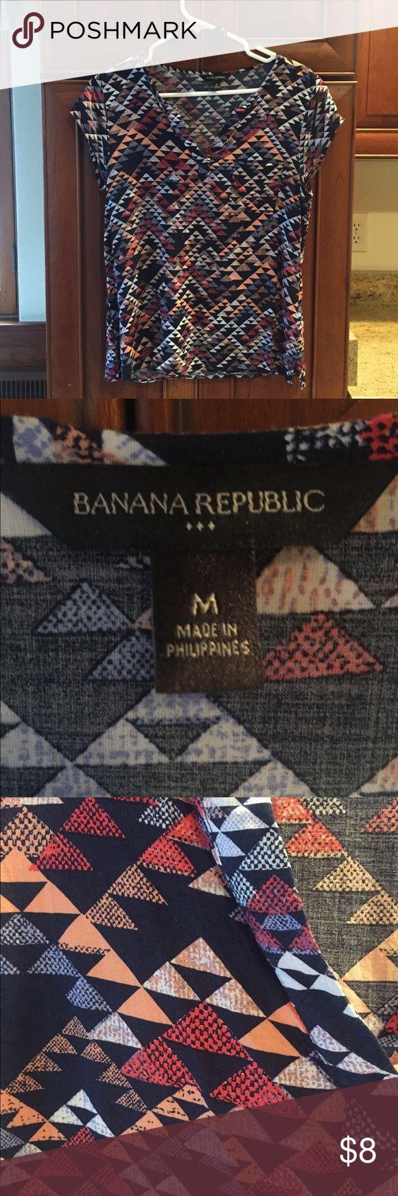 Banana Republic Short Sleeve Geometric Top Banana Republic Short Sleeve Geometric Top Banana Republic Tops