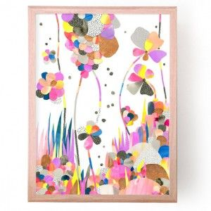 Jungle Pop Bright Colourful Floral Artwork by Laura Blythman