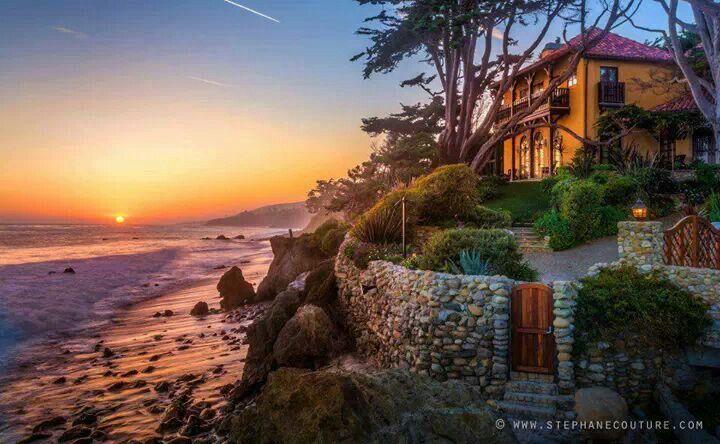 Malibu Sunset California Beautiful Places Pinterest