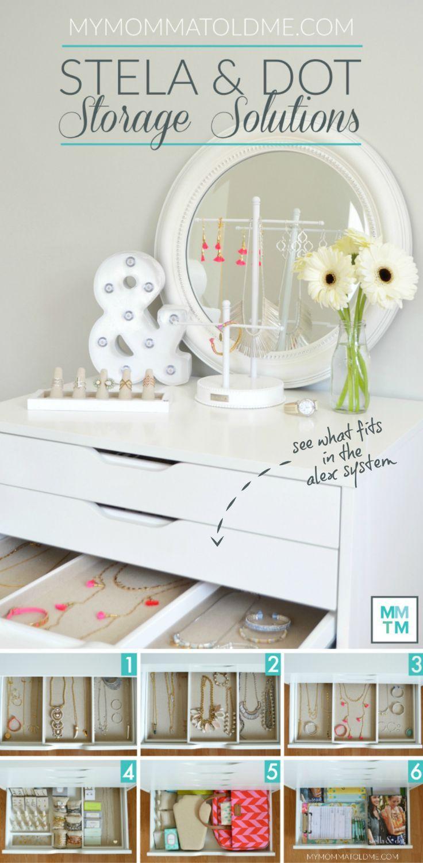 nice Ikea's ALEX drawers are perfect for Stella & Dot Jewelry Storage!  Take ...