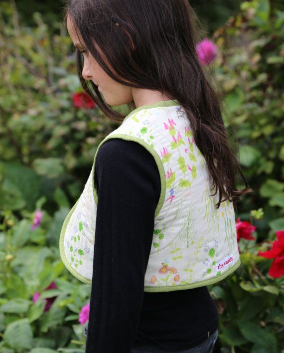 Little Garden Reversible Quilted Vest by the woods children