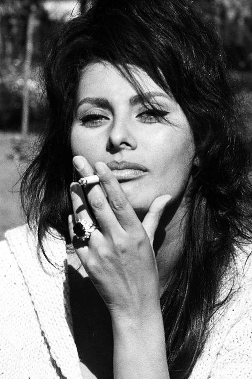 Sophia Loren photographed by Angelo Frontoni, c. 1972.