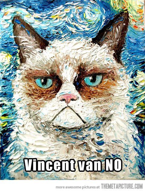 Vincent van NO… two of my favorites! Together.