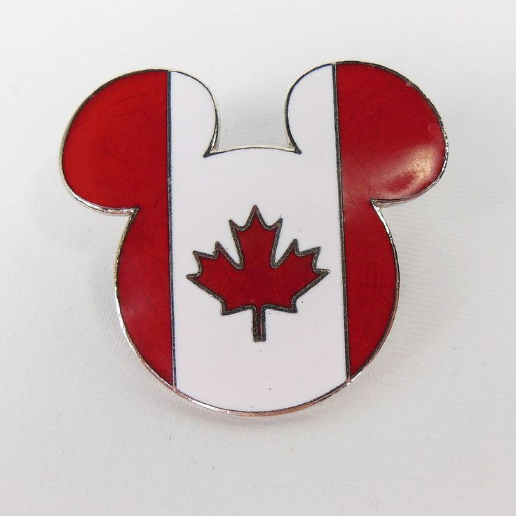 Disney Trading Pin Epcot World Showcase Canada Flag Mickey Head and Ears 2004