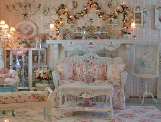 cottage, decor, home, interior, pink, victorian - inspiring picture on Favim.com