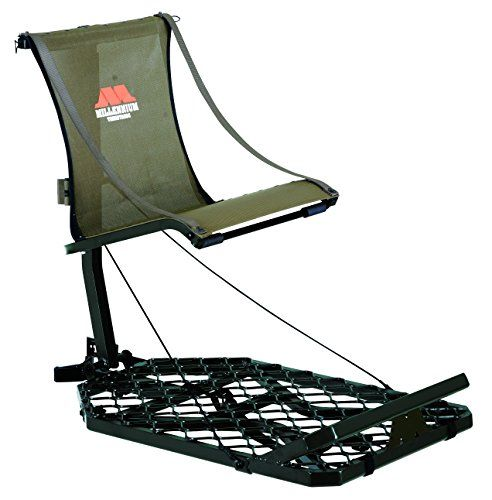 Millennium Treestands M150 Monster Hang-On Tree Stand (Includes SafeLink Safety Line) - Designed with everything you could want in a lightweight, portable lock-on stand, the M150 Monster is ideal for the hunter on the move. Similar to the M100, the M150 Monster features V-Brace Technology to minimize weight without compromising strength and stability. But, unlike it's predecessor, t...