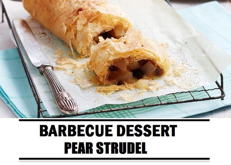 Barbecue recept: Pear strudel dessert van de barbecue