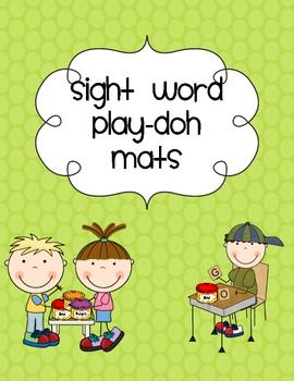 Polka Dot ABC and Sight Word Play-doh Mats Kindergarten    UPDATED: Added Fry's 1st 100 words and alphabet mats