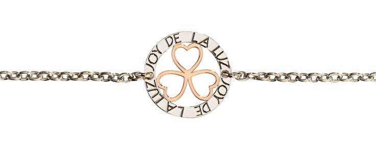 Joy de la Luz   Silver bracelet 3hearts rosé  €39,95