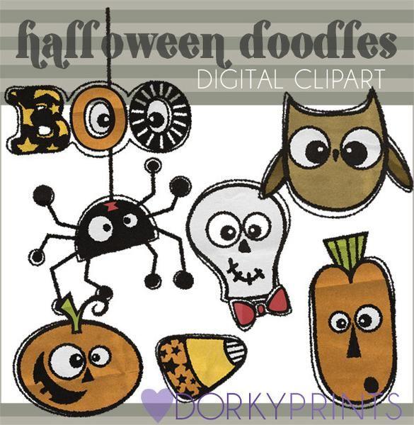 Doodles Halloween Clipart   Halloween doodle, Owl clip art ...
