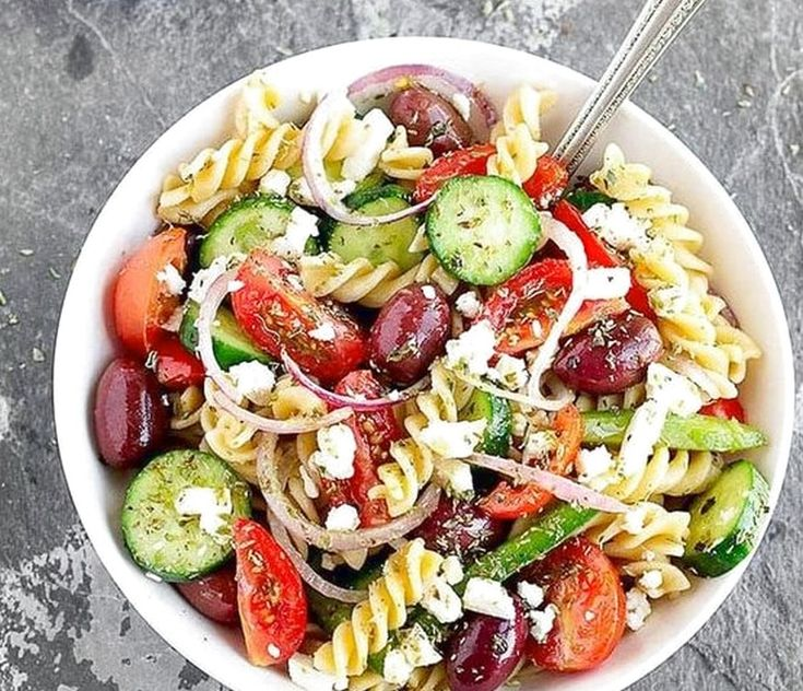 Greek Pasta Salad | Food Recipes