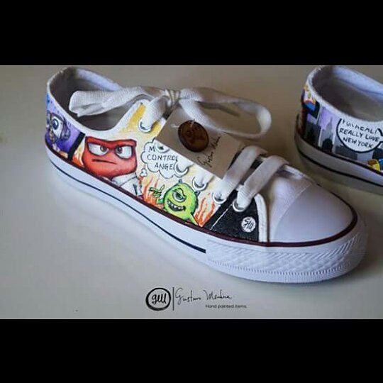 Pide tus #GustavoMedina totalmente personalizados!  Get your own custom made Gustavo Medina!  #shoes #monstersinc #insideout #Disney #schoenen #converse #tenis