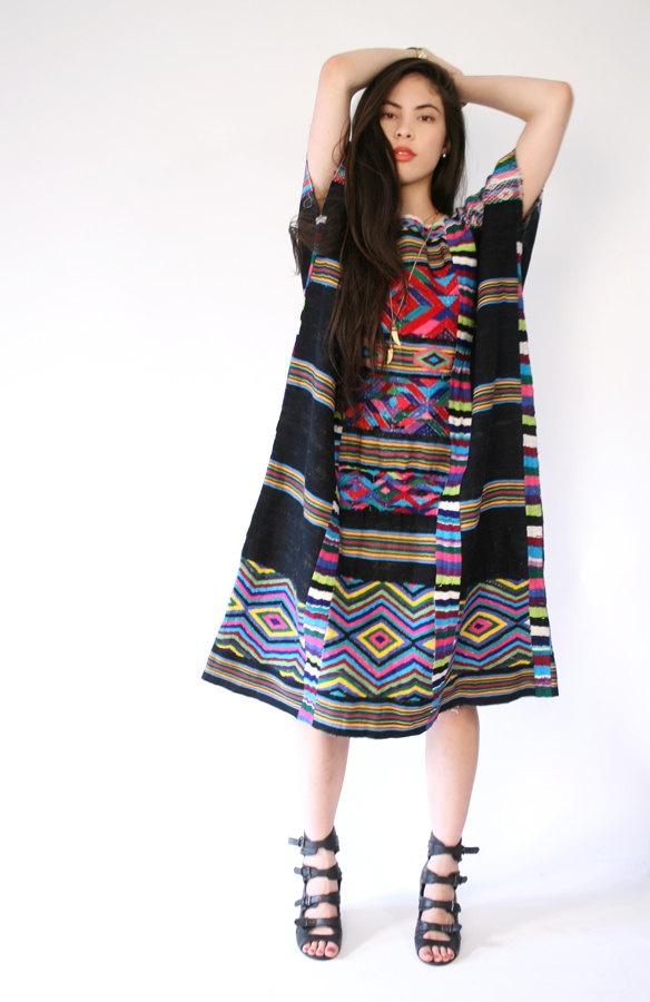 vintage embroidered swing dress
