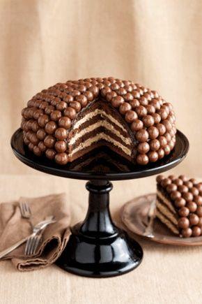 Очень вкусный шоколадный торт Maltesers cake.