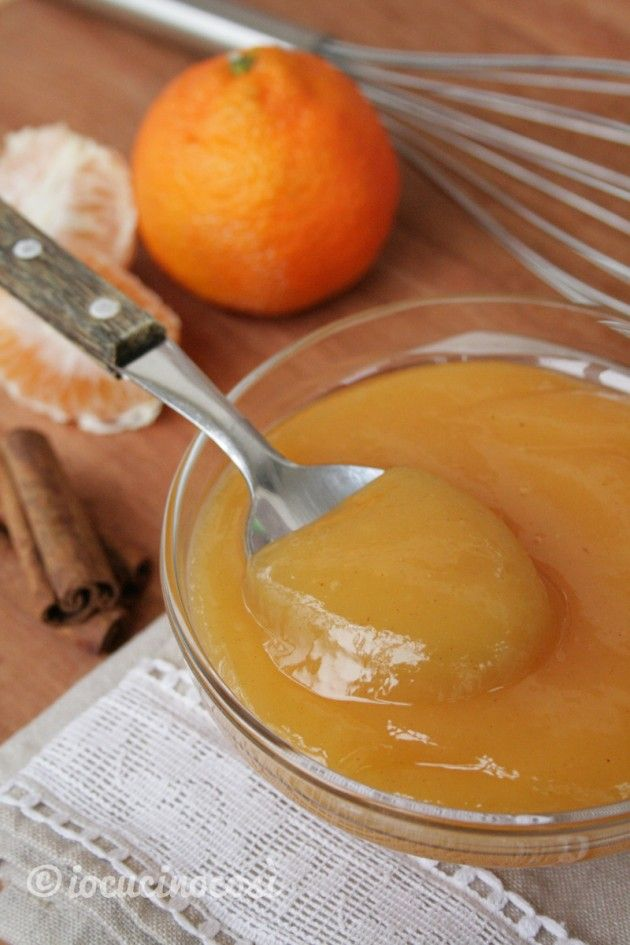 Crema di clementine alla cannella