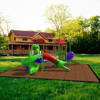 Keep things fun and safe for kids with our outdoor rubber playground tiles!  Available in a variety of colors and thicknesses for various fall heights.  See more at www.greatmats.com