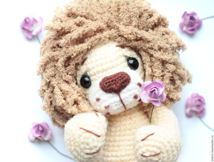 Купить Львенок амигуруми вязаная игрушка крючком - лев, амигуруми, лев крючком…